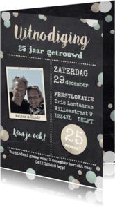 Uitnodigingen - Jubileumkaart groenbeige av