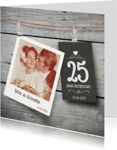 Uitnodigingen - Jubileumkaart jaar getrouwd