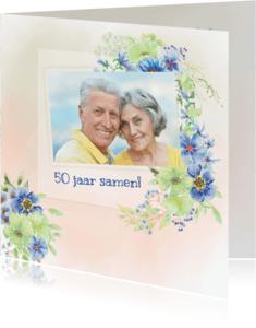 Jubileumkaarten - Jubileumkaart lentebloemen