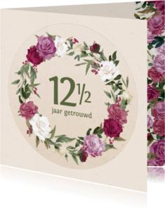 Jubileumkaarten - Jubileumkaart met rozenkrans