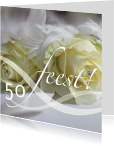 Jubileumkaarten - jubileumkaart vijftig tekst variabel