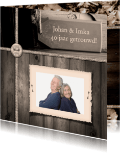 Jubileumkaarten - Jubileumkaart vintage foto RB