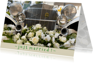 Felicitatiekaarten - just married, congratulations