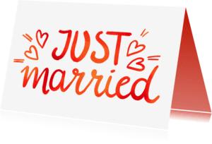 Felicitatiekaarten - Just Married - EM