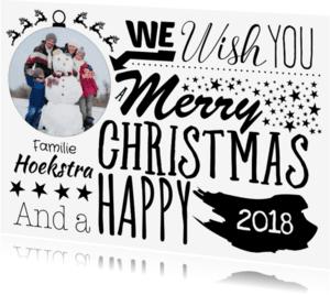 Kerstkaarten - Kaart met kerst illustraties -SU