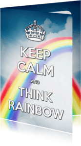 Ansichtkaarten - Keep Calm and Think Rainbow - SG