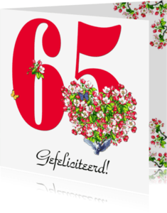 Jubileumkaarten - KendieKaart-65-Blossom hearts
