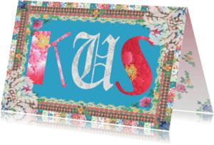 Liefde kaarten - KendieKaart-Kus-Patchy