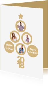 Kerstkaarten - Kerst collage boom 2018 RB