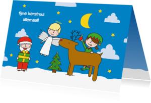 Kerstkaarten - Kerst fijne kerstmis allemaal