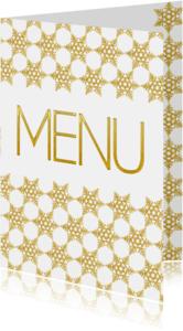 Menukaarten - Kerst menukaart ster - SG
