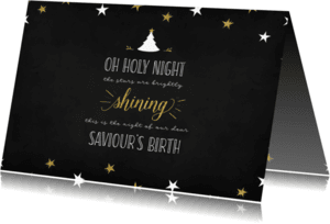 Kerstkaarten - Kerst Oh holy night lyrics