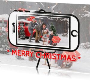 Kerstkaarten - Kerst selfie telefoon - SG
