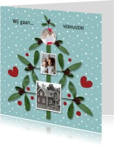 Kerstkaarten - Kerst Takjesboom Blauw - HR