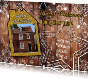 Kerstkaarten - Kerst verhuisd stoer en hip