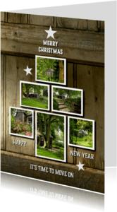 Verhuiskaarten - Kerst verhuiskaart hout 2 - SG