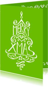 Kerstkaarten - Kerst Xmas boom