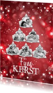 Kerstkaarten - Kerstboomfoto sterren - isf