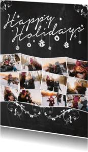 Kerstkaarten - Kerstcollage krijt 12foto's - BK