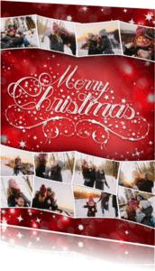 Kerstkaarten - Kerstcollage rood 12 foto's - BK