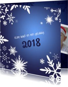 Kerstkaarten - Kerstkaart 2018 blauw kristallen-IP