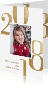 Kerstkaarten - Kerstkaart 2018 goud foto