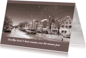 Kerstkaarten - Kerstkaart-Amsterdam- Winter