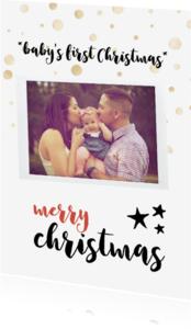 Kerstkaarten - Kerstkaart baby's first christmas card