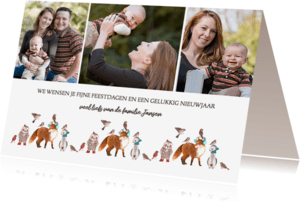 Kerstkaarten - Kerstkaart Bos dieren foto collage
