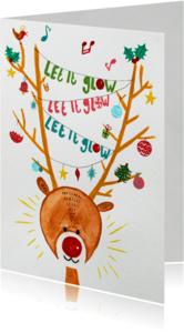 Kerstkaarten - Kerstkaart CliniClowns glow
