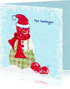 Kerstkaarten - Kerstkaart CliniClowns sneeuwman