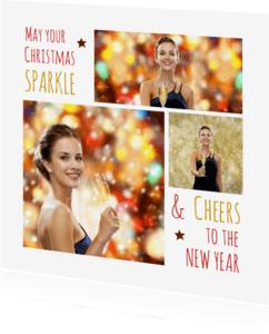 Kerstkaarten - Kerstkaart collage sparkle 2 - OT