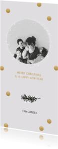 Kerstkaarten - Kerstkaart confetti