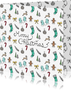 Kerstkaarten - Kerstkaart doodles