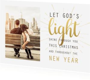 Kerstkaarten - Kerstkaart God's light