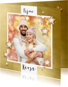 Kerstkaarten - Kerstkaart goud kader 2018 - SG