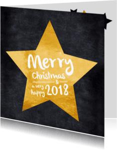 Kerstkaarten - Kerstkaart gouden ster