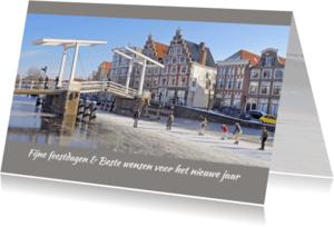 Kerstkaarten - Kerstkaart-Haarlem Winter