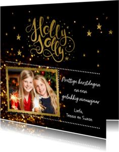 Kerstkaarten - Kerstkaart  holy joly  - LO