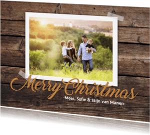 Kerstkaarten - Kerstkaart hout foto 4