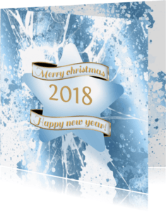 Kerstkaarten - Kerstkaart ijs ster 2018 B RB