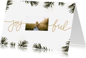 Kerstkaarten - Kerstkaart Joyful dennentakjes