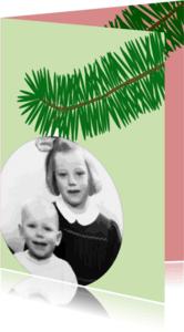 Kerstkaarten - Kerstkaart kerstbal met foto