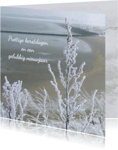 Kerstkaarten - kerstkaart landschap sneeuw