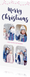 Kerstkaarten - Kerstkaart langwerpig collage 4 foto's