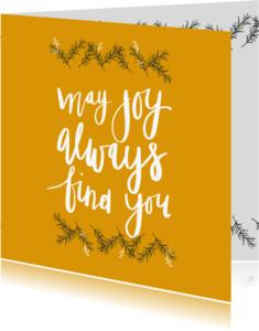 Kerstkaarten - Kerstkaart may joy - HM