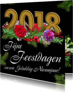 Kerstkaarten - Kerstkaart met cijfers 2018 - HE