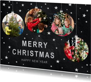 Kerstkaarten - Kerstkaart met kerstballen - SU