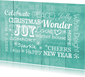 Kerstkaarten - Kerstkaart met tekst in het Engels