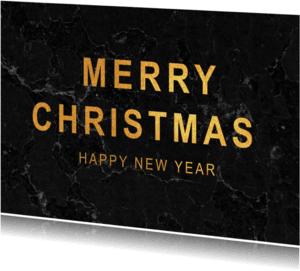Kerstkaarten - Kerstkaart met zwart marmer - SU